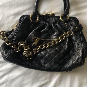Marc Jacobs black quilted Stam bag